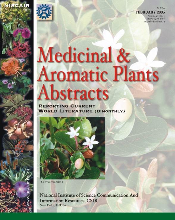 دوماهنامه خلاصه مقالات گیاهان دارویی و معطر جهان